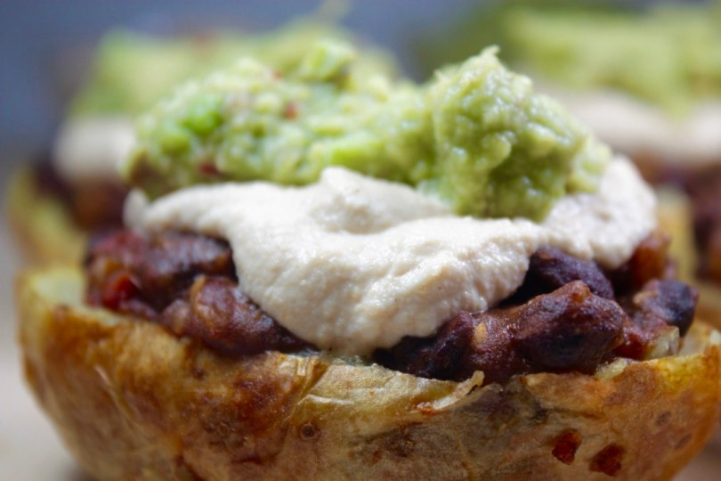 patatas rellenas estilo mexicano anacardos guacamole