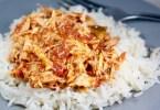 Pollo mechado con arroz basmati