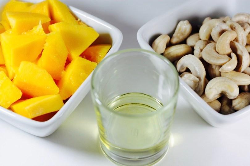 Leche de anacardos y mango
