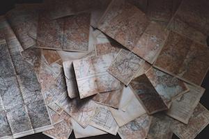 vieilles cartes pour le GR22