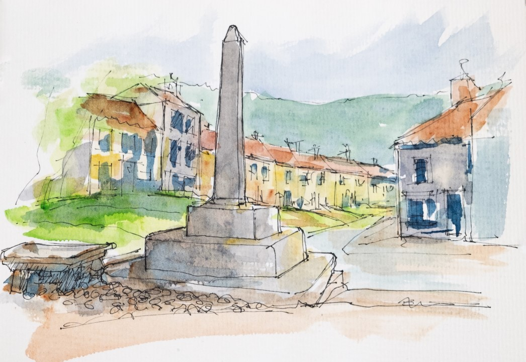 Osmotherley, Market Cross and 5-legged stone trading table