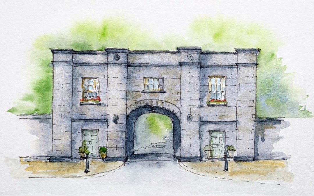 Bantry House gatehouse, the start of the Sheep's Head Way