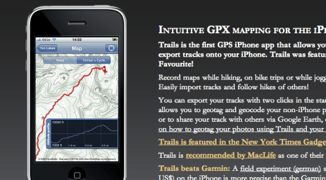 Mapping fun: Trails GPS Tracker for iPhone