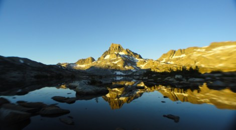 Banner Peak reflected in Thousand Island Lake along the John Muir Trail (Eric Ragland/Used with Permission)