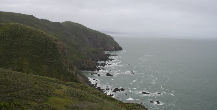 A movie-perfect view of the Pacific coast.