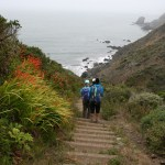 Stairs along the Coastal Trail make it a cardio workout at times.