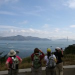 The view of the Golden Gate Bridge from the first overlook on the trail, on a clear day