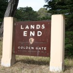 Lands End sign near the Eagle's Point Overlook