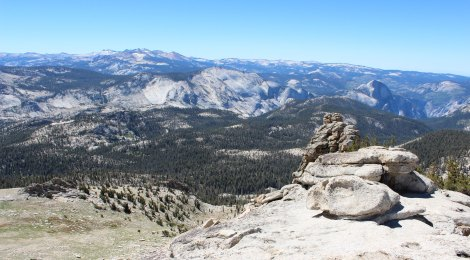 Mt. Hoffman's views - 360 degrees of Yosemite