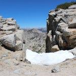 Snow lingers near Mt. Hoffman peak