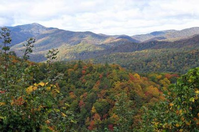 Cataloochee lookout view - fall 2010