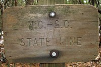 Foothills Trail - boundary sign