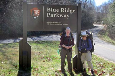 MST - Entering the Blue Ridge Parkway