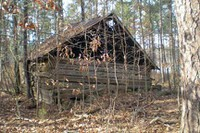 Falls Lake - tobacco barn