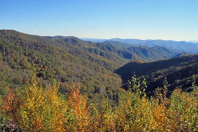 Newfound Gap Road in Fall