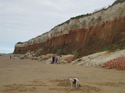 Norfolk Coast Path - red cliffs