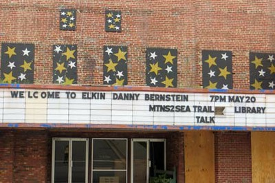 Elkin marquee with my name