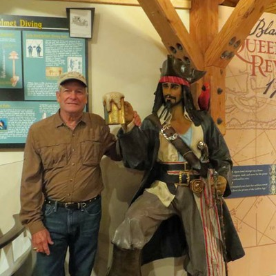 Terry Smith with Blackbeard
