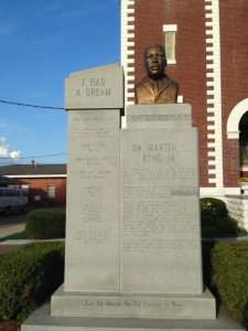 MLK memorial in Selma, AL