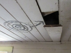 Woody House ceiling
