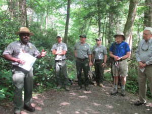 Superintendent Cash, trail crew leaders and FOTS leaders
