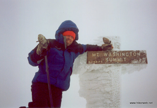 John at the Mt. Washington summit sign.