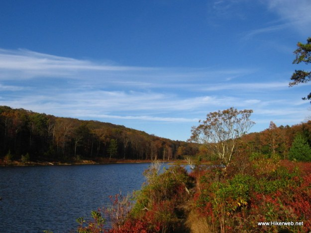 Fall colors at Lower Blue Mountain Lake.