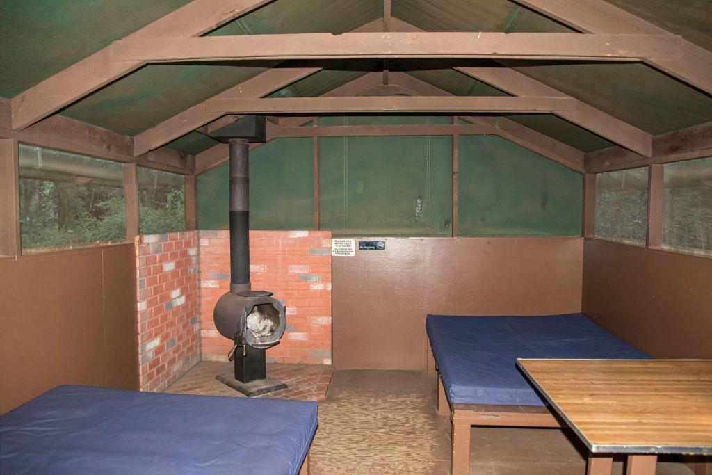 tent cabin inside