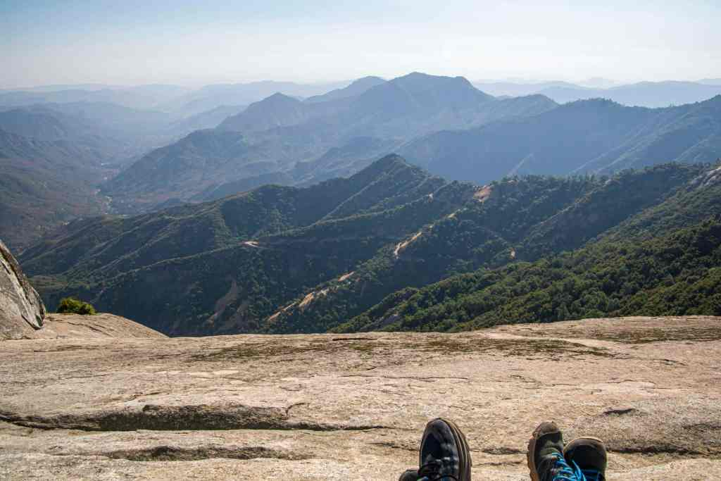 feet at the top