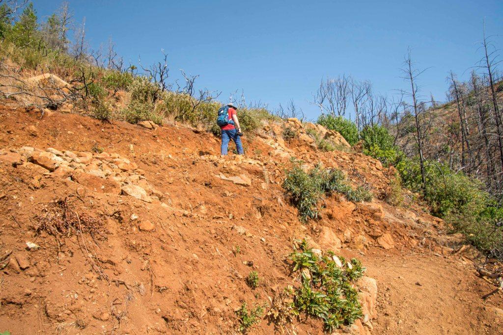 rob on switchbacks on lawson trail