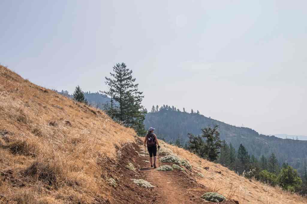 dawna looking at views from lawson trail
