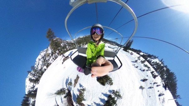 Sunny days on the lift