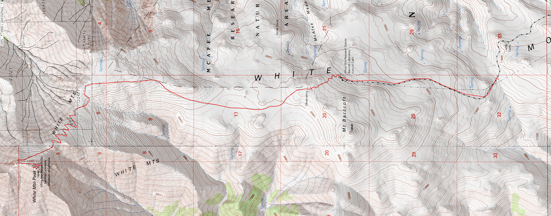 Trip Planning:  White Mountain Peak (14,252′) , July 11-12