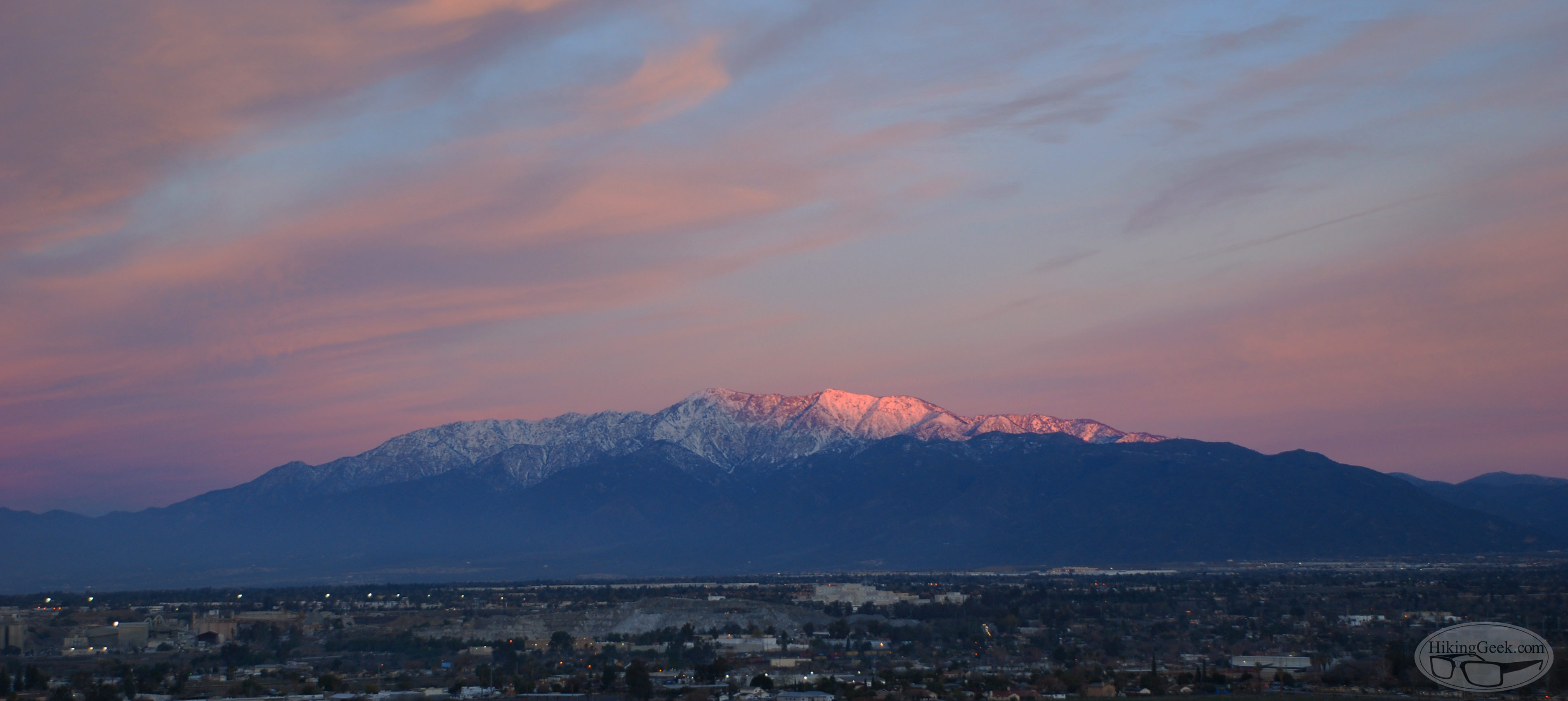 San Gabriel Mountains Time-lapse, January 11 2016