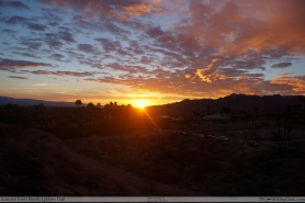 Sunrise from North Lykken Trail