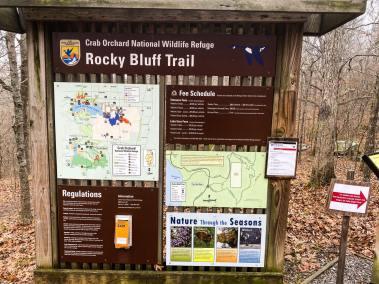 Rocky Bluff Trailhead Sign