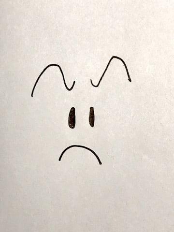 イラストー眉メイク、感情、怒り