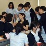メイク研修 堺歯科衛生士専門学校