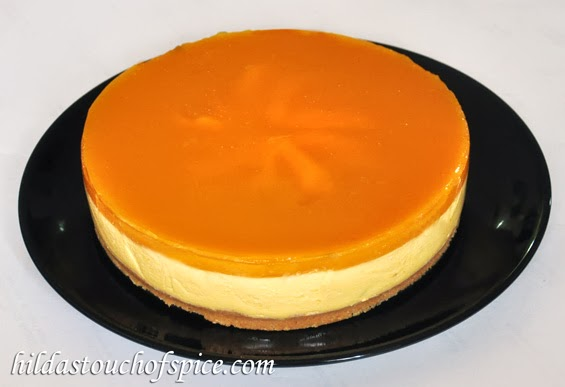 Mango Cheesecake No Bake Amp Eggless Hilda S Touch Of Spice