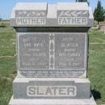 John and Martha Pickett Slater Tombstone