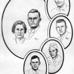 Lloyd McKinney Hill, Mabel Myers Moss, Clifford Fairly Hill, Richard H Hill, Robert L Hill, Howard L Hill