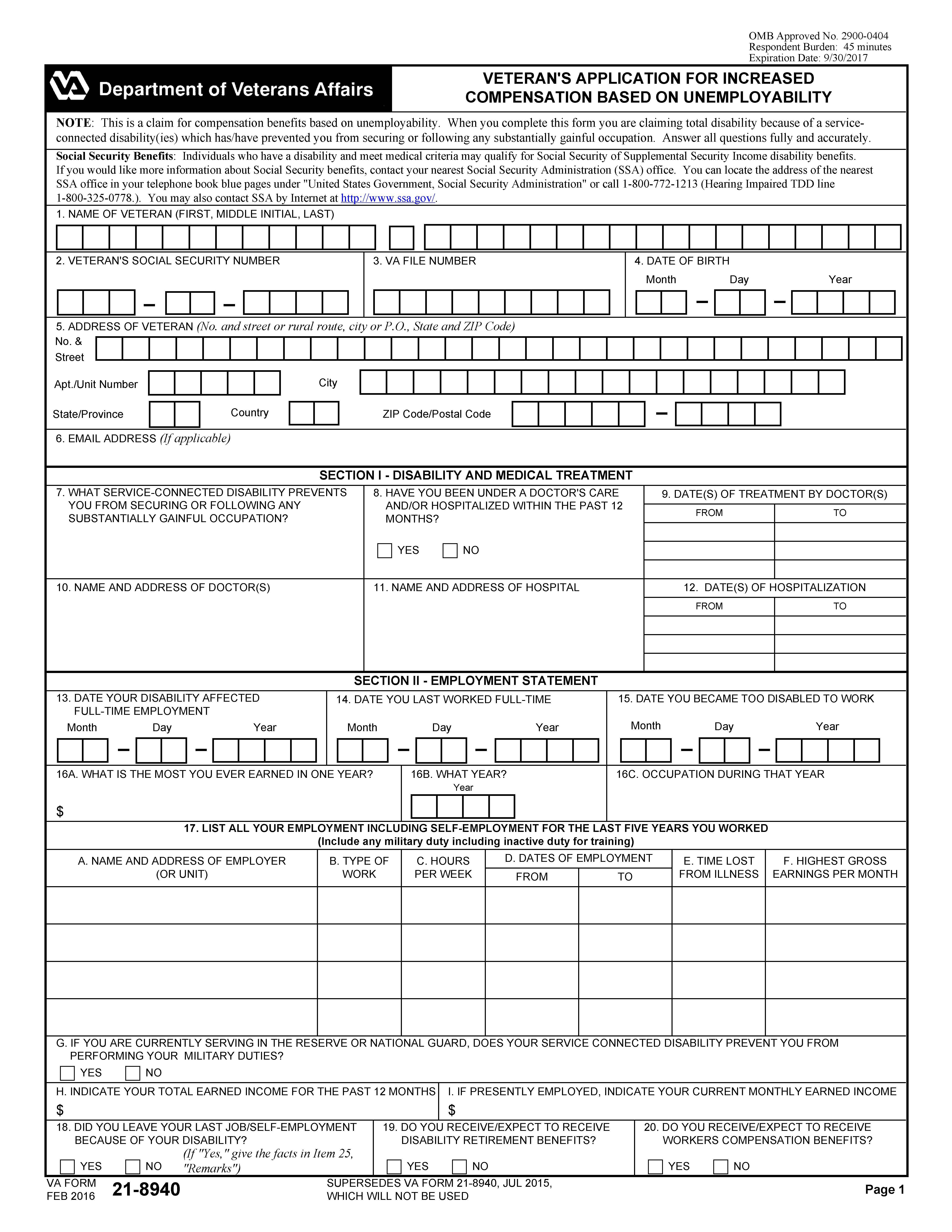 Va Form 21