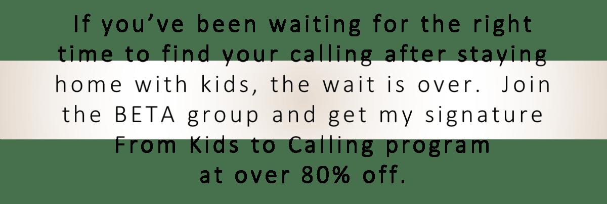 Kids to Calling Headline
