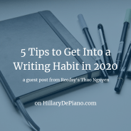 5 Tips to Get Into a Writing Habit in 2020