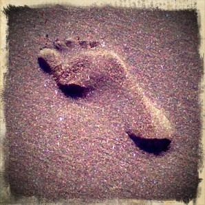 footprint photo