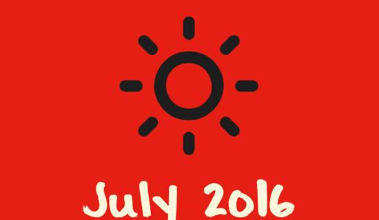 July 2016: Leveling up!