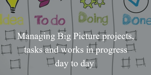 Daily Kanban for Writers: Managing Big Picture projects, tasks and works in progress day to day