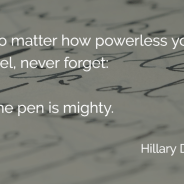 The pen is mighty. (A post election NaNoWriMo pep talk)