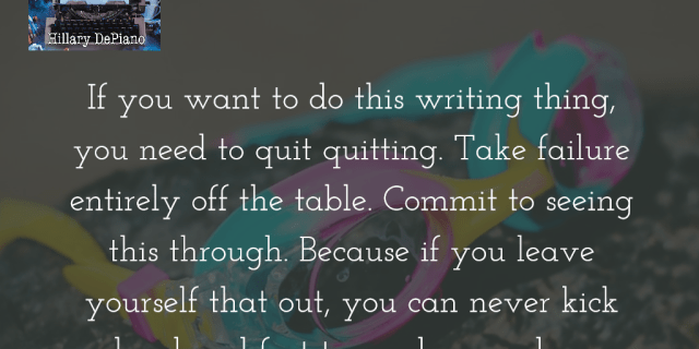 Take failure off the table