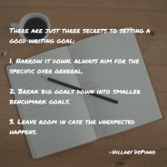 Setting smaller, specific goals with wiggle room is the secret to good writing resolutions